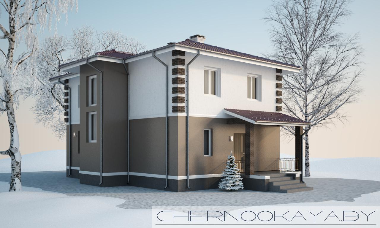 Проект дома №1533-9  фасад