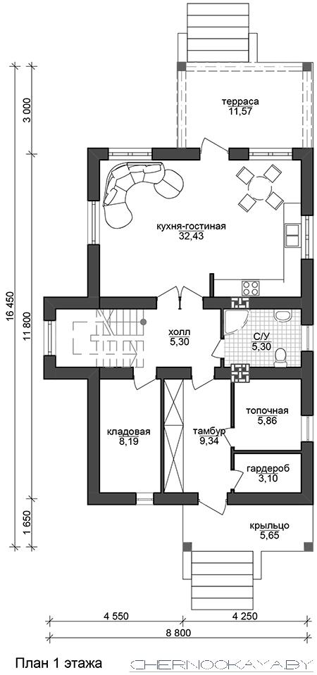 Проект дома №1533-9  план
