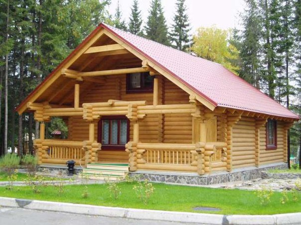 Характеристики домов из оцилиндрованного бревна.