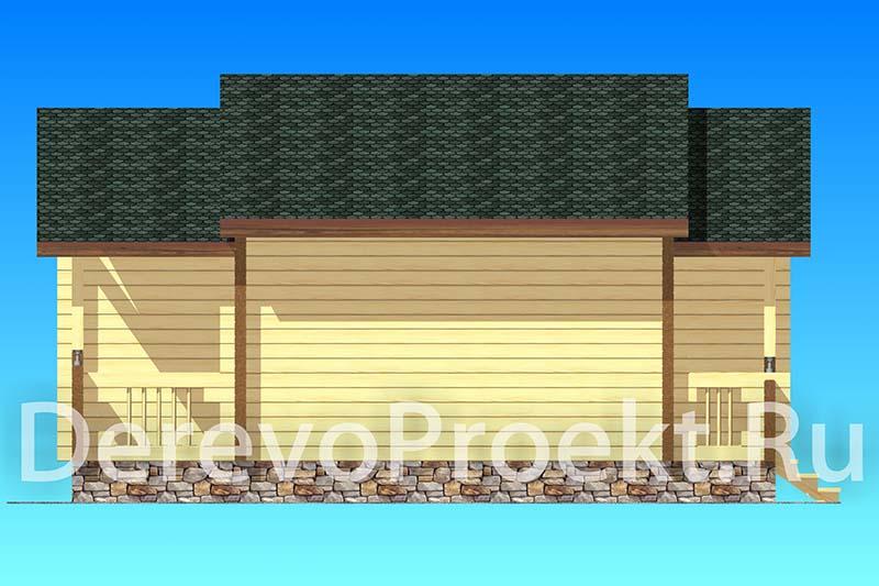 Проект гостевого дома на 2 номера фасад