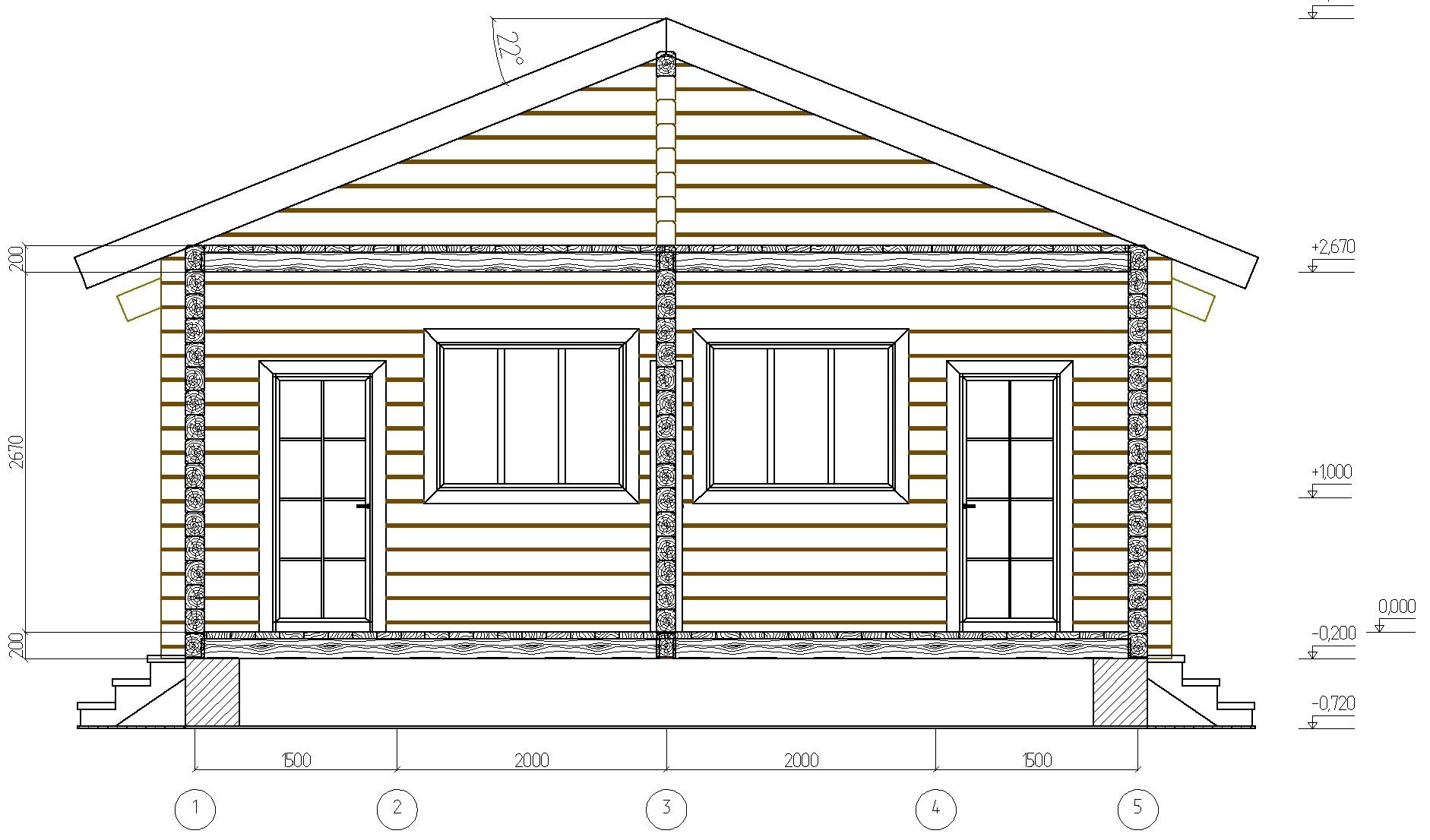 Проект гостевого дома на 2 номера план