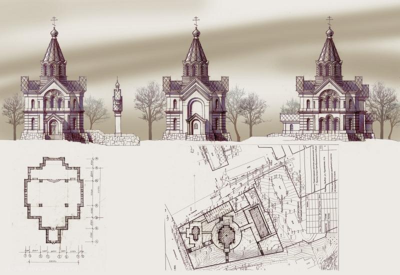 Храм во имя «Успения Божей Матери» г. Выборг план
