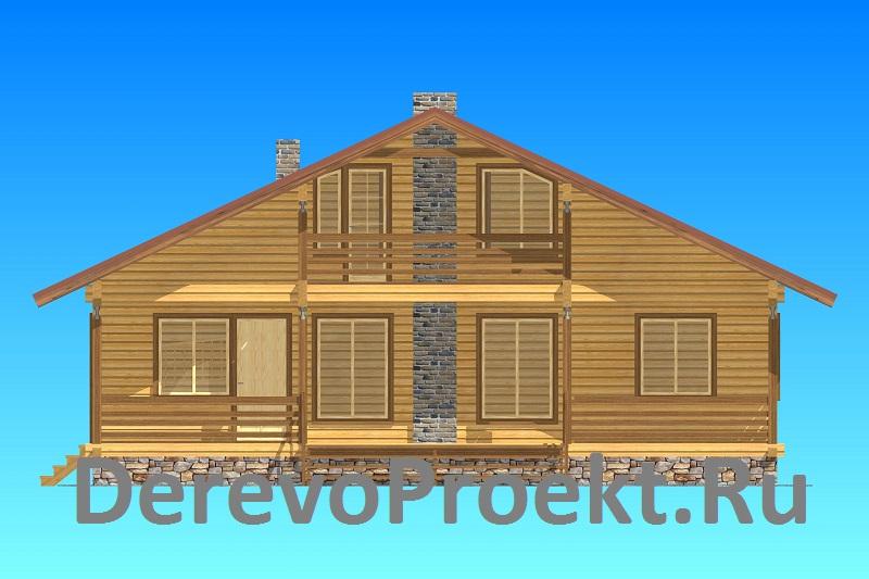 Проект дома 11х11,5 брус 150х150 фасад