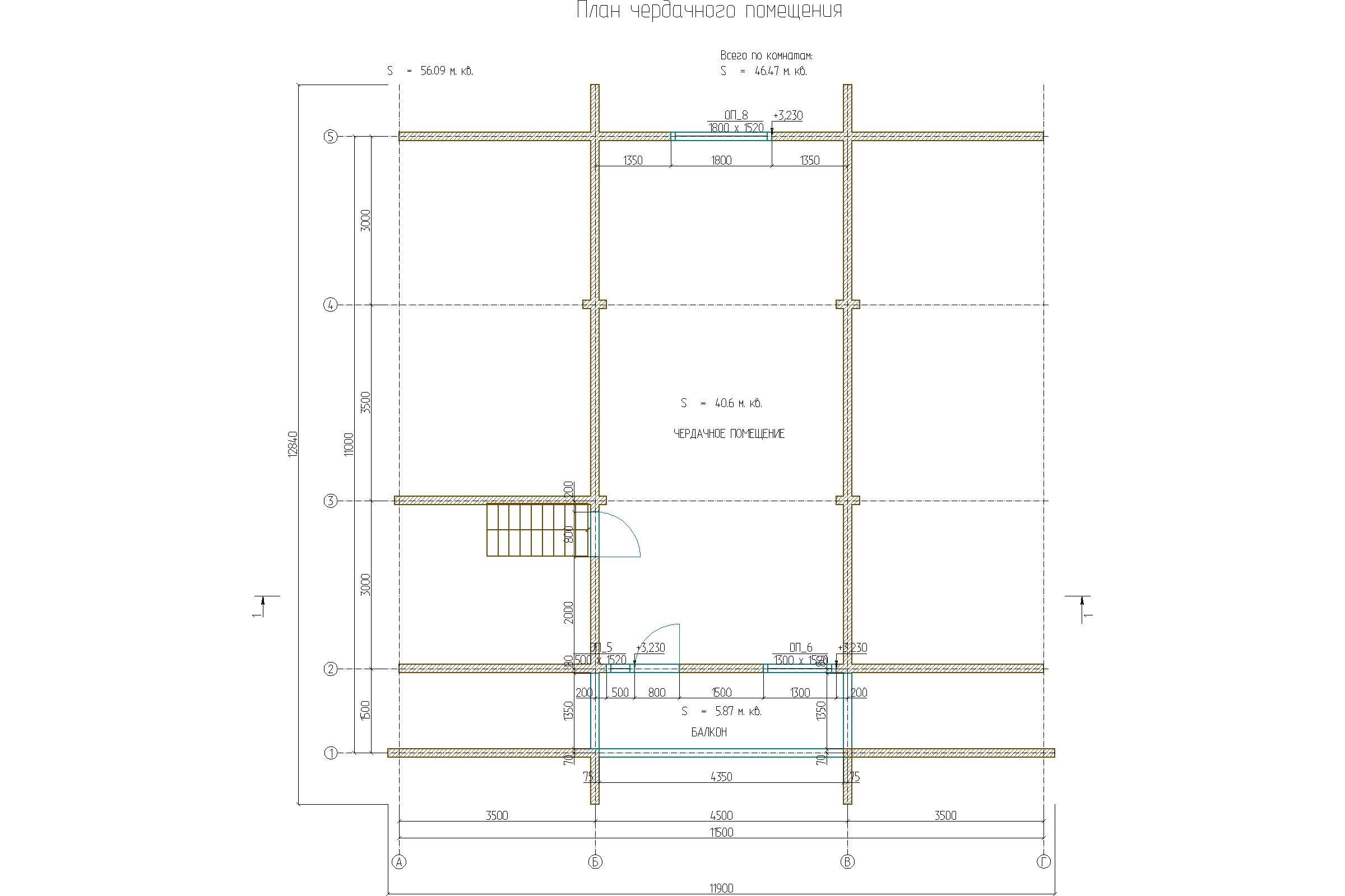 Проект дома 11х11,5 брус 150х150 план