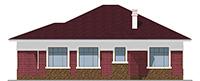 Проект кирпичного дома 41-75 фасад