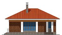 Проект кирпичного дома 41-88 фасад