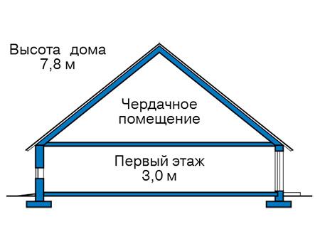 Проект кирпичного дома 41-75 план