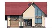 Проект кирпичного дома 41-91 фасад