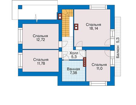 Проект кирпичного дома 41-91 план