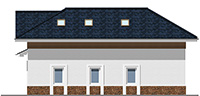 Проект кирпичного дома 41-95 фасад