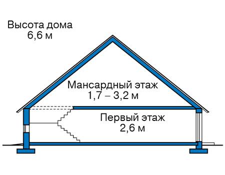 Проект кирпичного дома 41-95 план