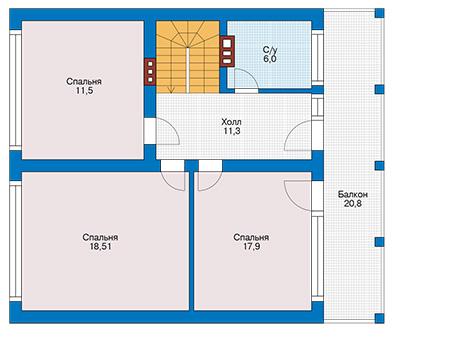 Проект кирпичного дома 42-31 план