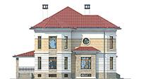 Проект кирпичного дома 42-49 фасад