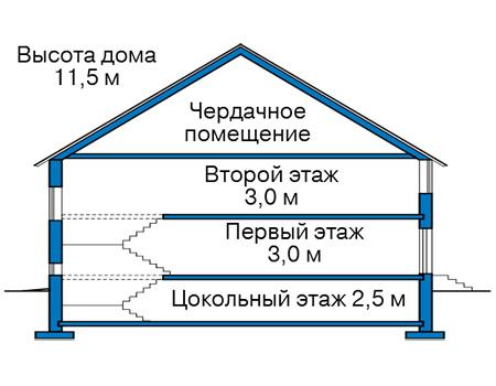 Проект кирпичного дома 42-49 план