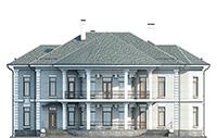 Проект кирпичного дома 42-50 фасад