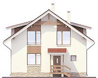 Проект кирпичного дома 42-52 фасад