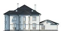 Проект кирпичного дома 42-55 фасад