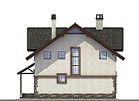 Проект кирпичного дома 42-56 фасад