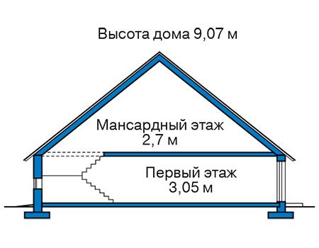 Проект кирпичного дома 42-56 план