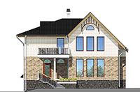 Проект кирпичного дома 42-58 фасад