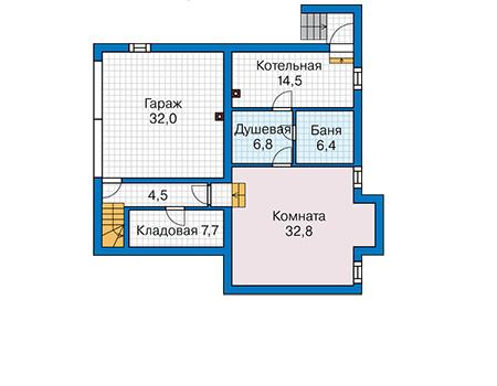Проект кирпичного дома 42-58 план