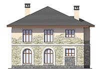Проект кирпичного дома 42-59 фасад