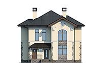 Проект кирпичного дома 42-60 фасад