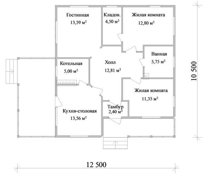 Эскизный проект летнего домика A-020 план
