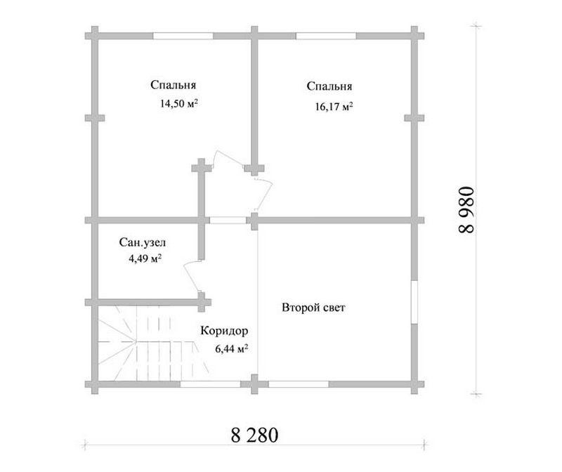Типовой проект дома план