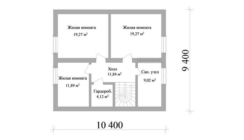 Эскизный проект дома на четыре спальни план