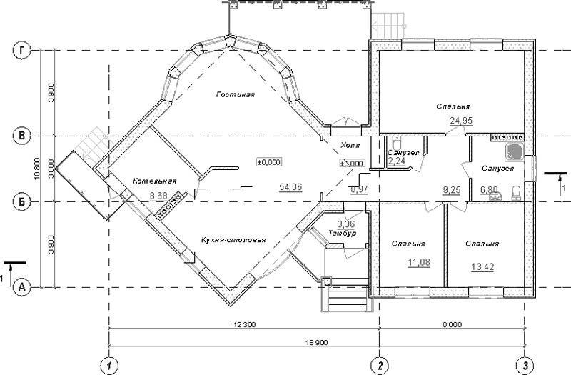 Типовой эскизный проект дома  план