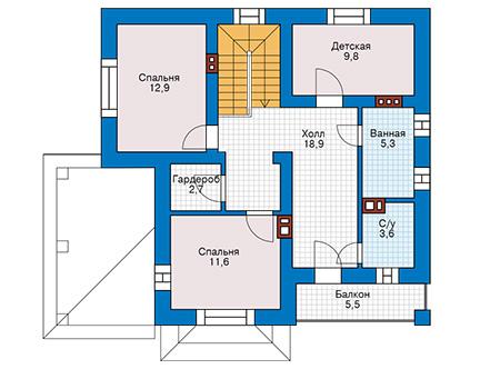 Проект кирпичного дома 42-61 план