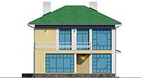 Проект кирпичного дома 42-62 фасад