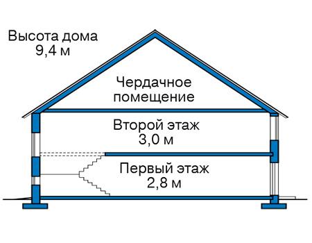 Проект кирпичного дома 42-62 план