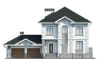 Проект кирпичного дома 42-64 фасад