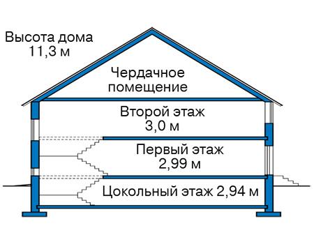 Проект кирпичного дома 42-64 план