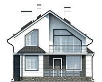 Проект кирпичного дома 42-65 фасад