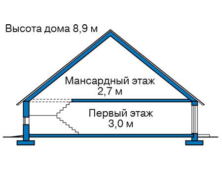 Проект кирпичного дома 42-65 план