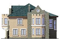Проект кирпичного дома 42-66 фасад
