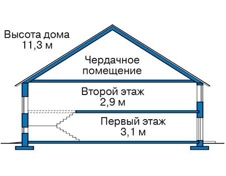 Проект кирпичного дома 42-66 план