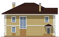 Проект кирпичного дома 42-67 фасад