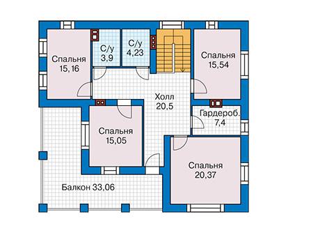 Проект кирпичного дома 42-67 план