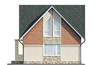 Проект кирпичного дома 42-68 фасад