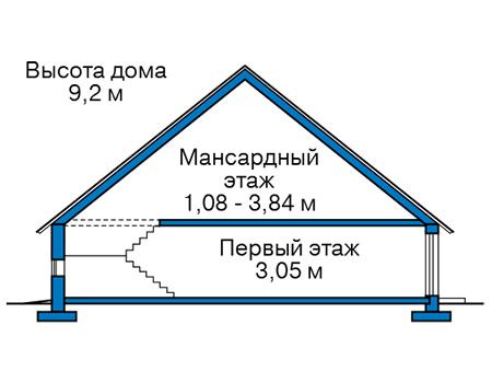 Проект кирпичного дома 42-68 план