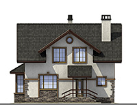 Проект кирпичного дома 42-70 фасад