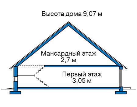 Проект кирпичного дома 42-70 план