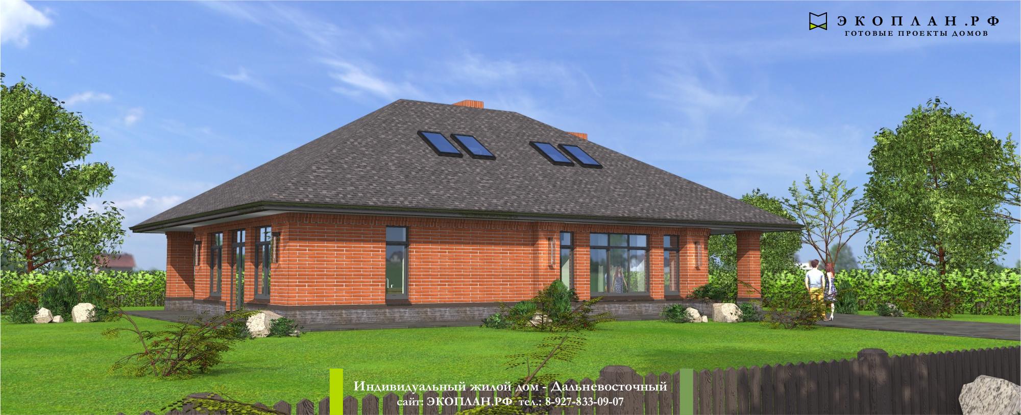 Готовый проект дома - Дальневосточный - Ульяновск фасад
