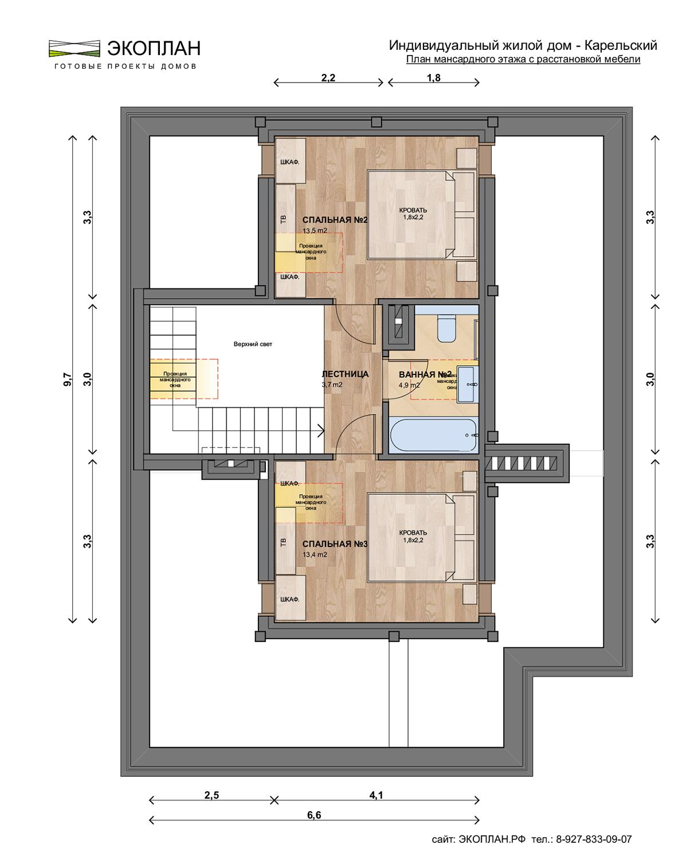 Готовый проект дома - Карельский - Ульяновск план