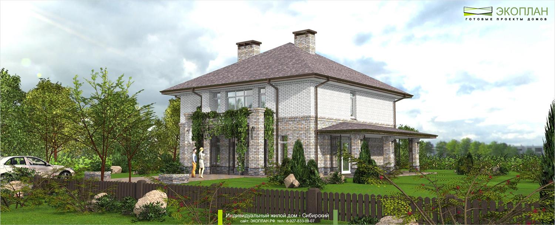 Готовый проект дома - Сибирский - Ульяновск фасад