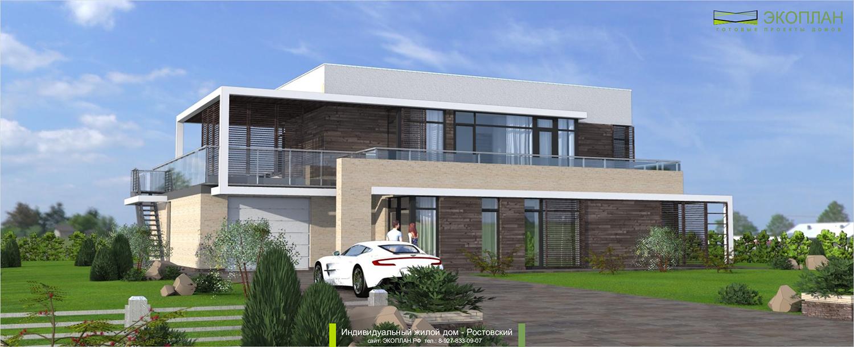 Готовый проект дома - Ростовский - Ульяновск фасад